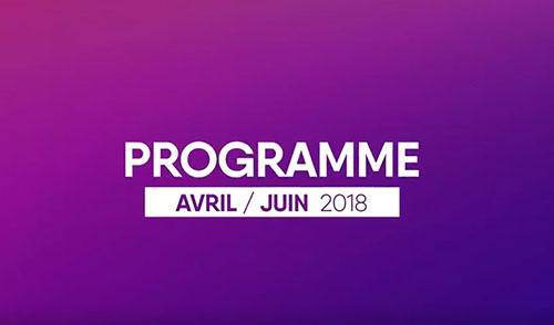 Teaser du programme du Camji avril à juin 2018